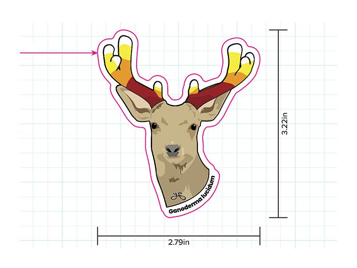 Red Reishi Deer Antlers (Ganoderma lucidum antlers)